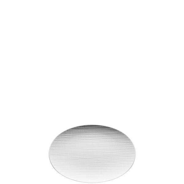 Platter flat oval, 9 7/8 inch   Mesh White