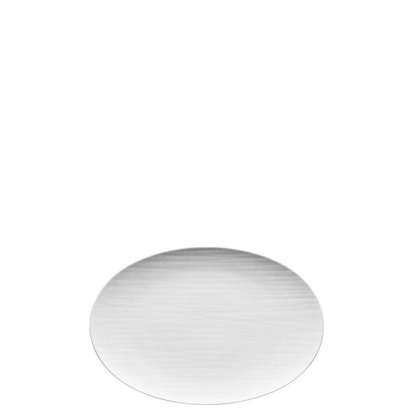 Platter flat oval, 11 3/4 inch   Mesh White
