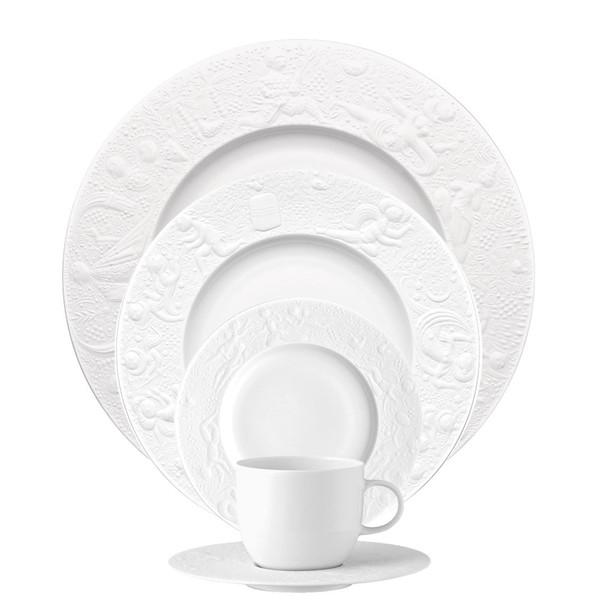 5 Piece Place Setting (5 pps) | Magic Flute White  sc 1 st  Rosenthal & Formal \u0026 Elegant Dinnerware | Rosenthal Shop