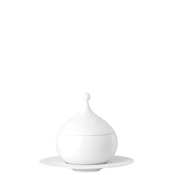 Sauce Boat, Covered, 18 1/2 ounce | Rosenthal Magic Flute White