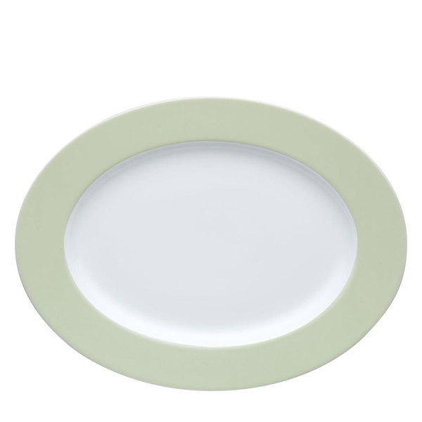 Oval Serving Platter, 13 inch | Sunny Day Pastel Green