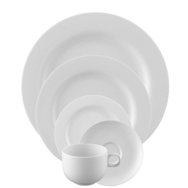 5 Piece Place Setting (5 pps) | Moon White