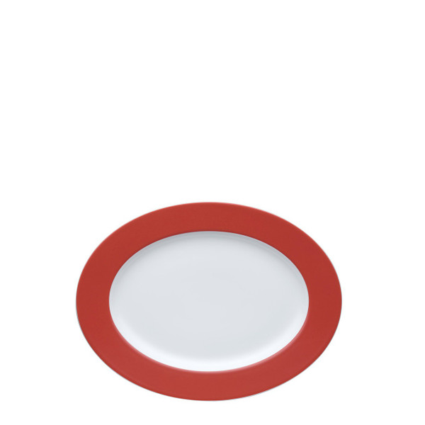 Oval Serving Platter, 13 inch | Sunny Day Red