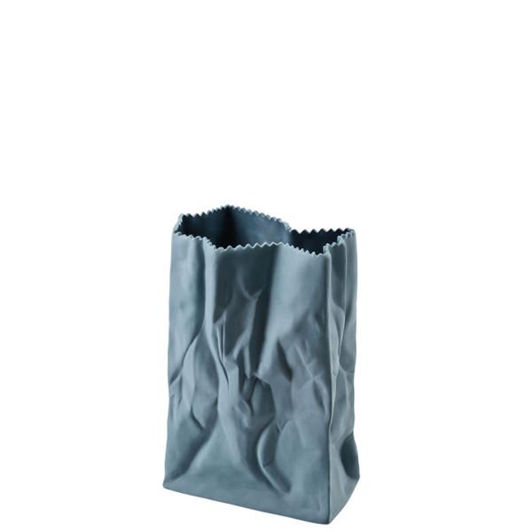 Paper Bag Vase, 7 inch | Bag Vase - Blue (321334)