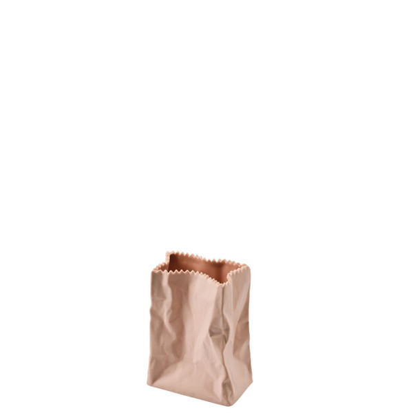 Paper Bag Vase, 4 inch | Bag Vase - Peach (321335)