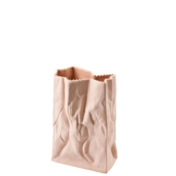 Paper Bag Vase, 7 inch | Bag Vase - Peach (321335)