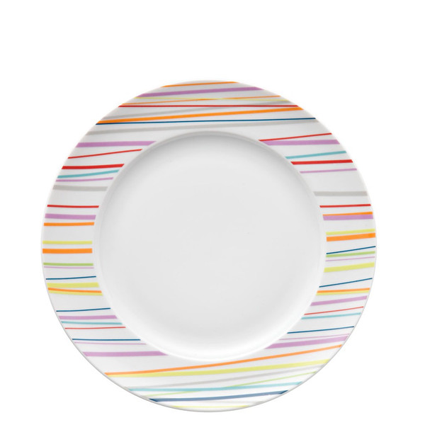 Dinner Plate, 10 1/2 inch | Sunny Day Stripes