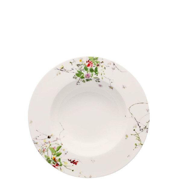 Soup Plate, rim, 9 inch | Rosenthal Brillance Fleurs Sauvages