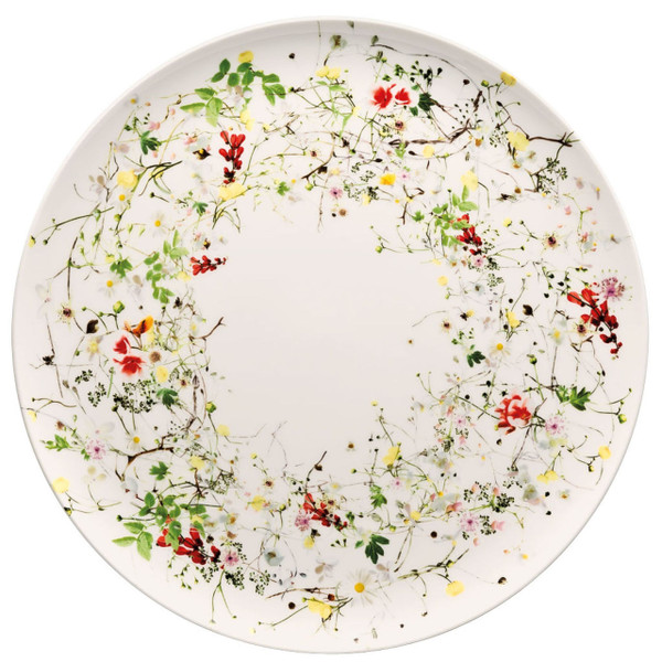 Service Plate, coupe, 12 1/2 inch | Brillance Fleurs Sauvages