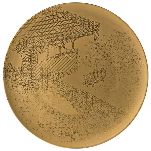 Service Plate, 13 inch   TAC Palazzo RORO Gold