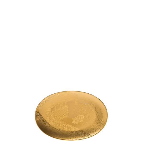 Platter, 7 1/4 inch | Rosenthal TAC Palazzo RORO Gold