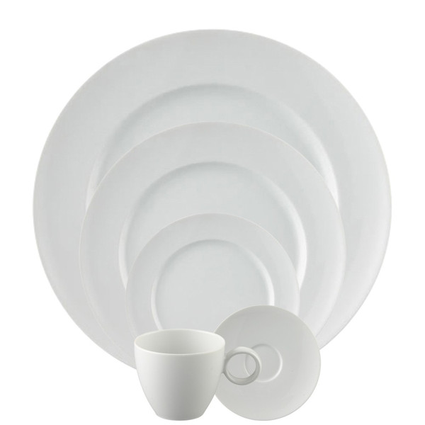 5 Piece Place Setting, Round (5 pps)   Vario White