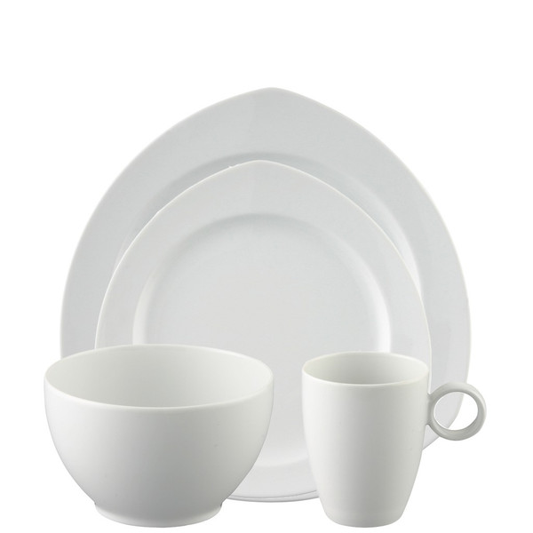 4 Piece Place Setting, Triangle (4 pps) | Vario White