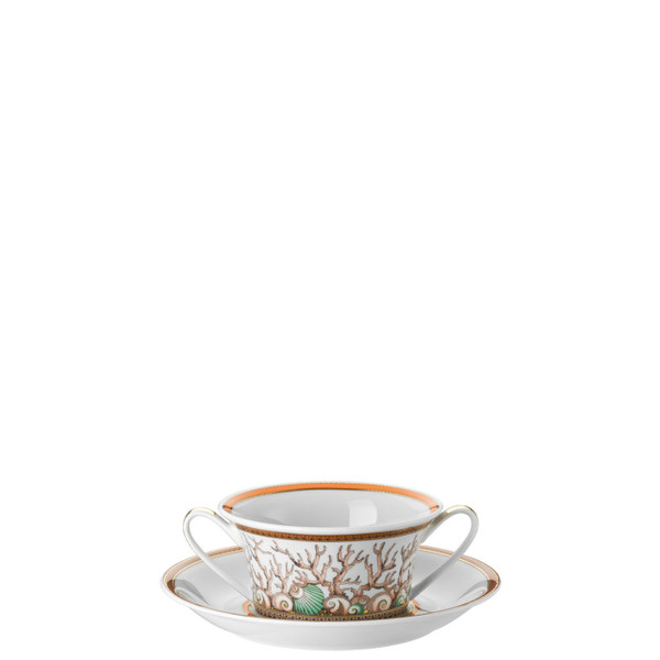 Cream Soup Cup & Saucer, 6 3/4 inch, 10 ounce   Etoiles de la Mer