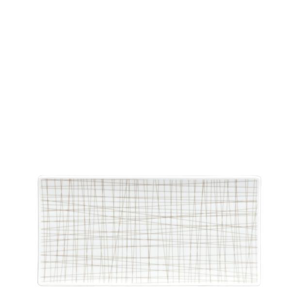 Rectangular Platter, 10 1/4 x 5 inch | Mesh Lines Walnut