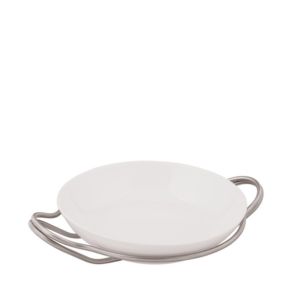 Rice Dish in Holder, Antico finish, 14 1/4 inch | New Living Antico