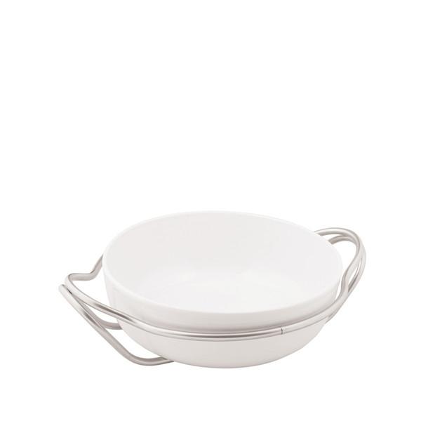 Spaghetti Dish in Holder, Antico finish, 12 2/3 inch | Sambonet New Living Antico