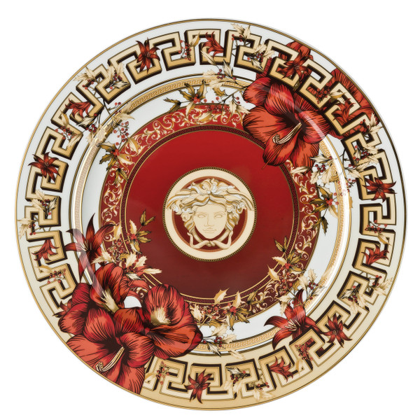 Christmas Plate, 11 3/4 inch   Christmas Blooms