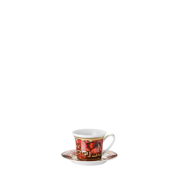 Espresso Cup and Saucer, 3 ounce   Christmas Blooms