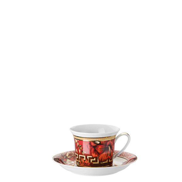 Cappuccino Cup and Saucer, 8 ounce   Christmas Blooms