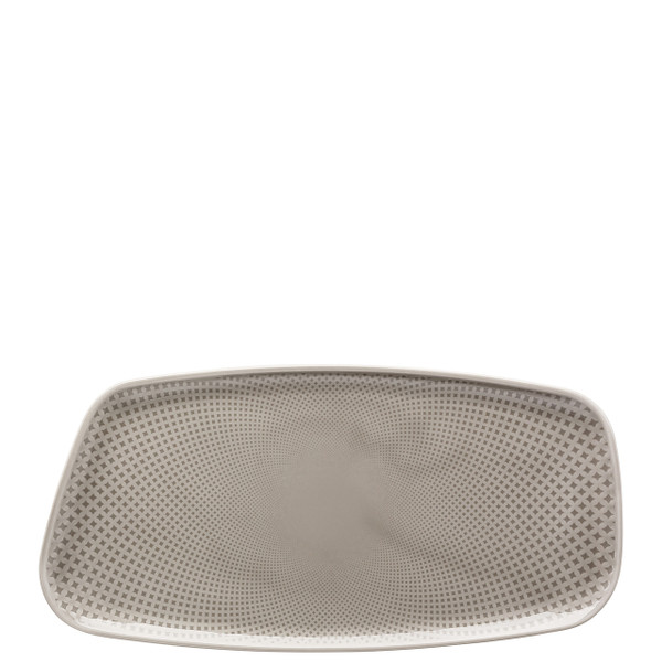 Platter, Rectangular, Pearl Grey, 11 3/4 x 6 inch   Junto