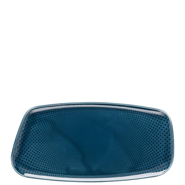 Platter, Rectangular, Ocean Blue, 11 3/4 x 6 inch   Junto