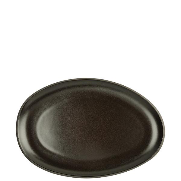 Platter, Flat, Oval, Slate Grey, 11 inch | Junto Stoneware