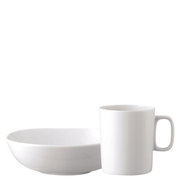 Breakfast Set (mug & bowl) | Moon White