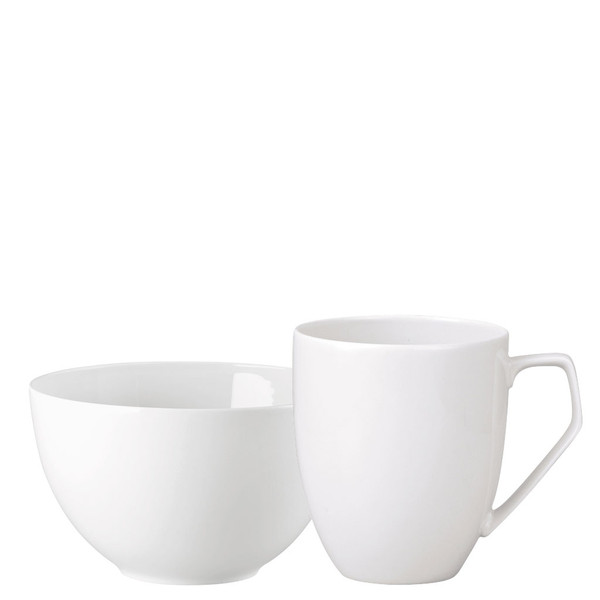Breakfast Set (mug & bowl) | TAC 02 White