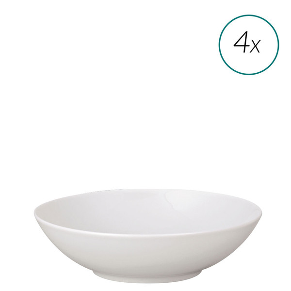 Soup Plates Set, 4 pieces, 8 inch | TAC 02 White