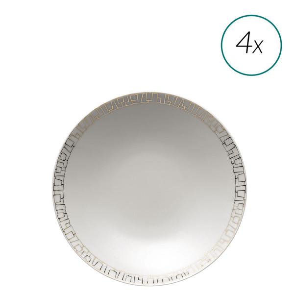 Soup Plates Set, 4 pieces, 9 1/2 inch | TAC 02 Skin Gold