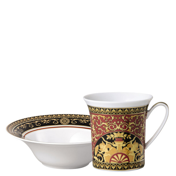 Breakfast Set (mug & bowl) | Medusa Red