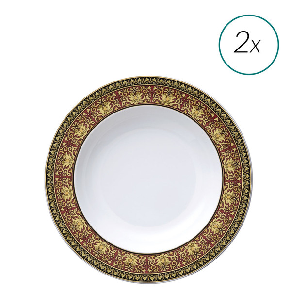 Soup Plates Set, 2 Pieces, 8 1/2 Inch | Medusa Red