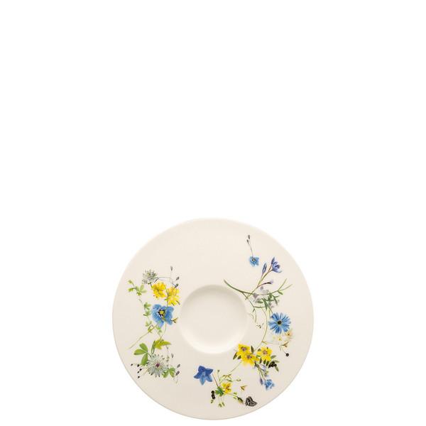 Tea Saucer / Cappuccino Saucer, 6 1/4 inch | Brillance Fleurs des Alpes