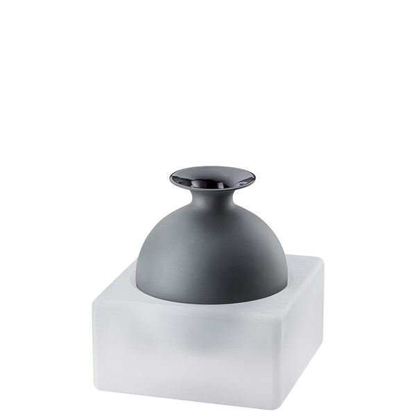 Vase, 2 pieces, Black / Glass, 7 inch | Freddo