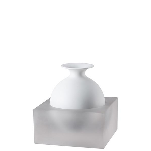 Vase, 2 pieces, White / Glass, 7 inch | Freddo