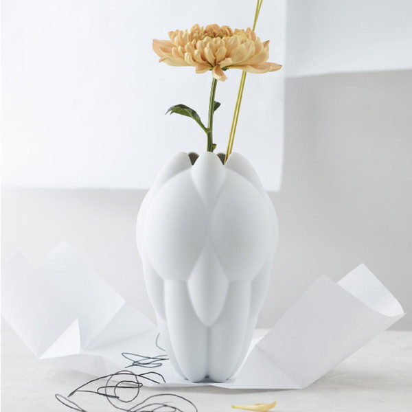 Vase White Matte 10 Inch Core Rosenthal Shop
