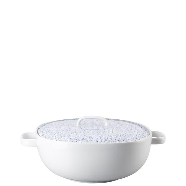 Vegetable Bowl, Covered, 68 ounce | Moon Cipango Blue