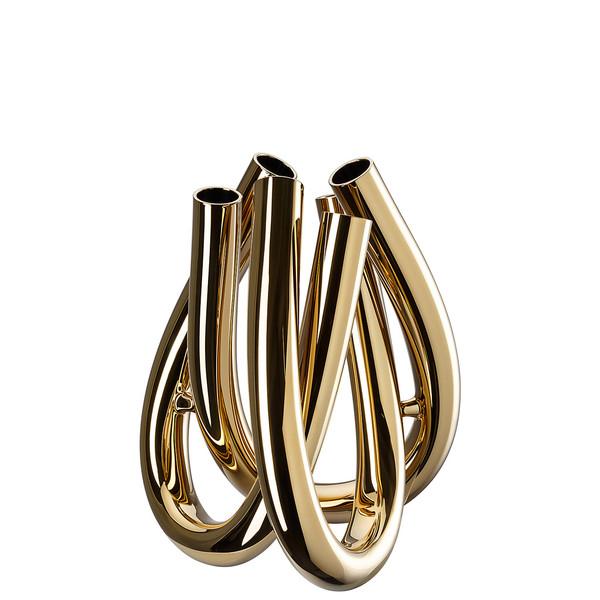 Vase , Gold, 8 1/2 inch   Triu