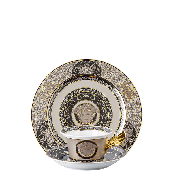Tea Cup, Tea Saucer & Dessert Plate Set, 3 pieces | 25 Years Medusa Silver