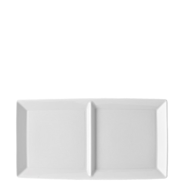 2 part Divided Tray, 11 inch | Loft White