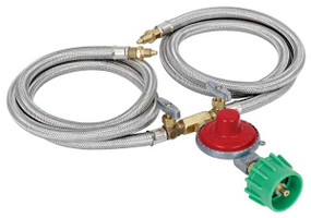 "Dual 36"" Stainless Braided Hose-Regulator Kit  M2HPH"