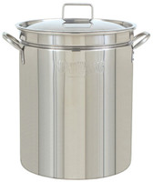 44 qt. Stainless Steel Stock Pot with Lid - 1044