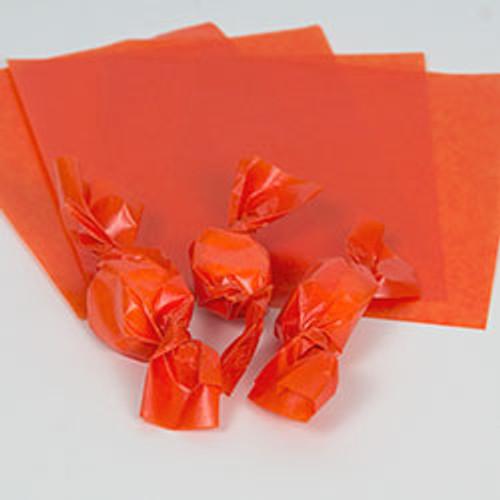 "Orange Caramel Wrappers 4"" x 5"", 100 Sheets"