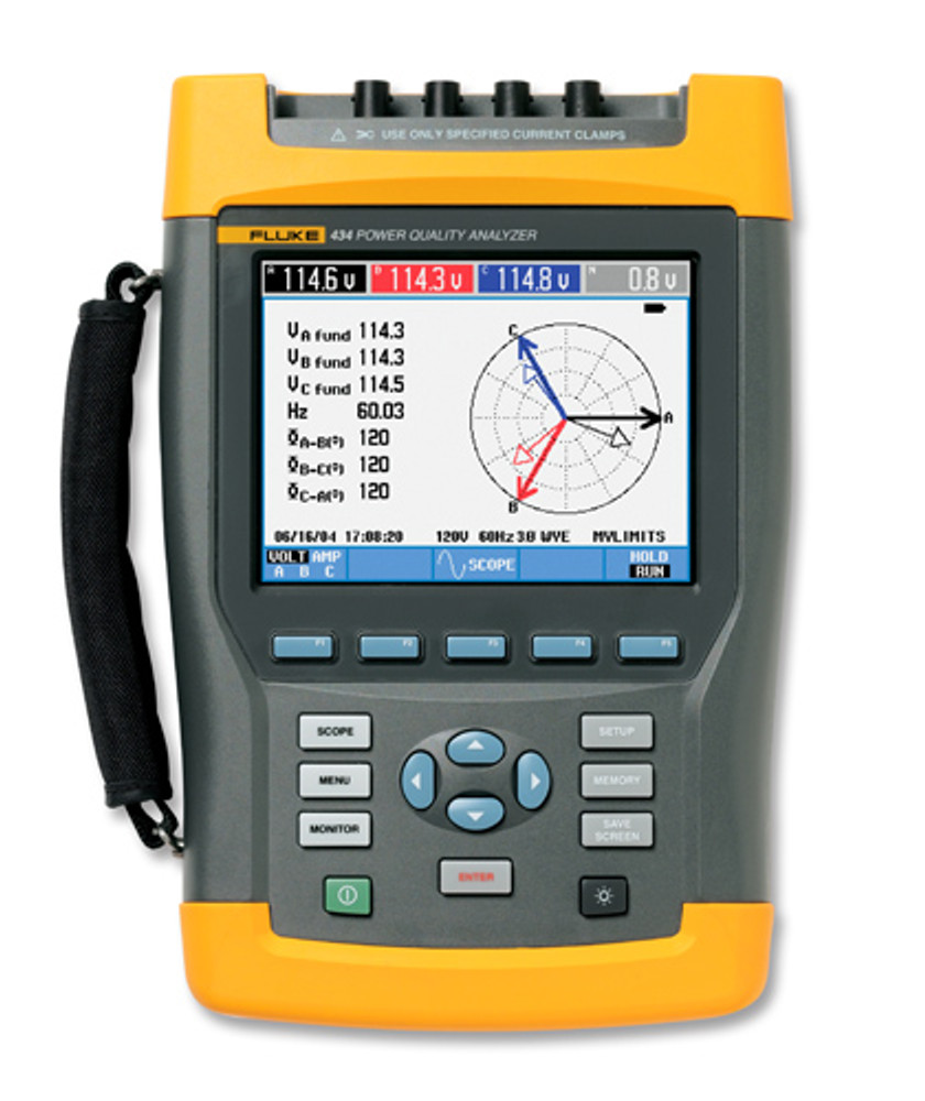 Fluke 434-II/BASIC Three-Phase Power Quality & Energy Analyzer
