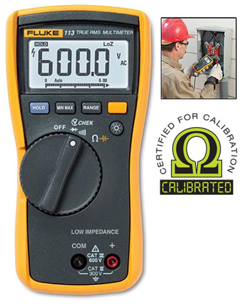 Fluke 113 True RMS Digital Multimeter - Calibrated