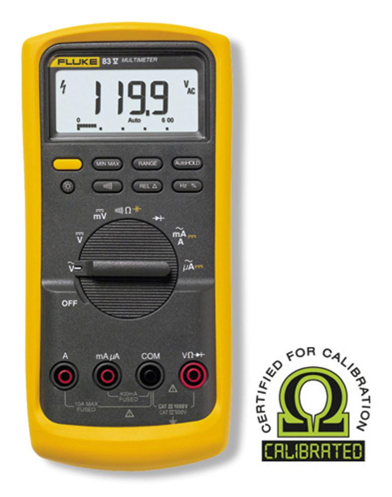 Fluke 83V Digital Multimeter - Calibrated