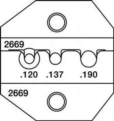 Paladin CrimpAll, 3M SC/FC-3 Type Die Set