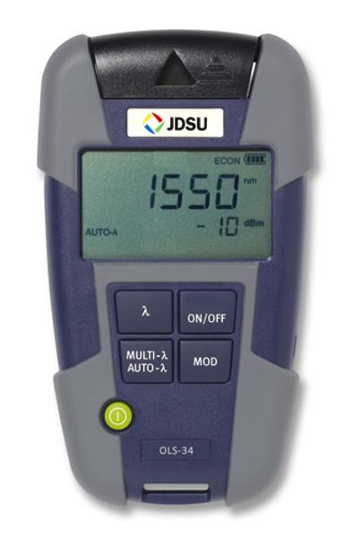 OLS-36 JDSU 2303/23 Quad SM/MM Fiber Optic Laser Light Source-SC