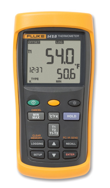 Fluke 53-2B Single Input Digital Thermometer w/ Data Logging